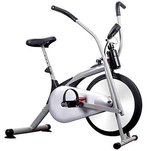 SanQing Upright Bike Fan Exercise Bike with Air Resistance System -Outdoor/Household Infinite Resistance Fitness Equipment White