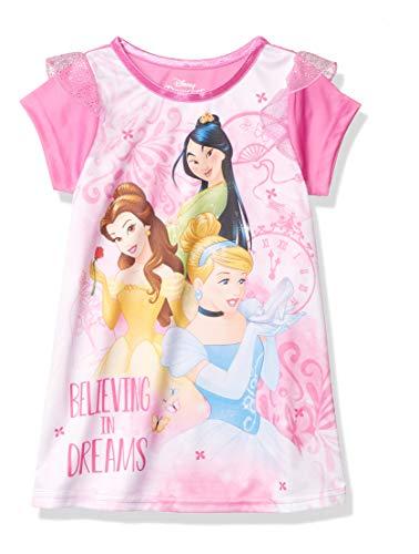 Disney Girls' Toddler Fantasy Nightgown, Multi-Princess - Dreams, 4T