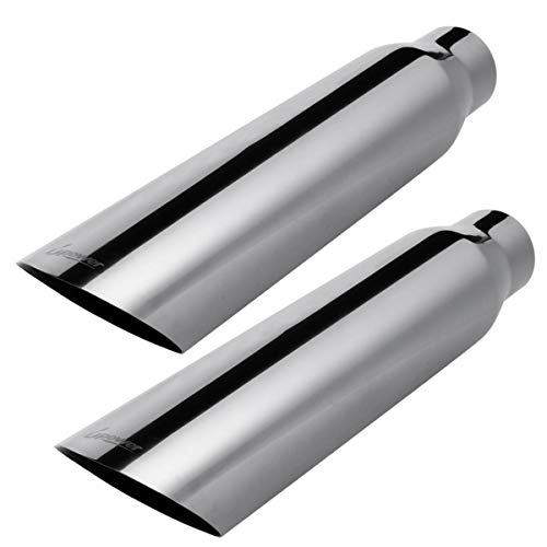 Upower Exhaust Tip 2.5' Inlet x 3.5' Outlet x 18' Overall Length...