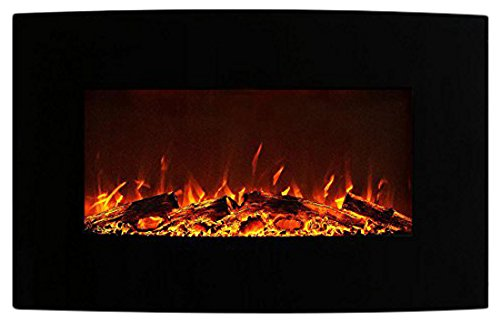 Moda Flame MFE5035C Chelsea 35' Curved Black Wall...