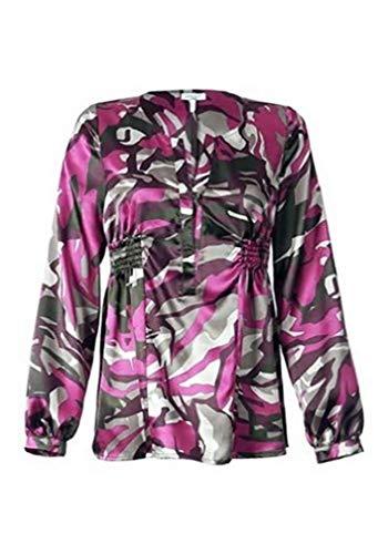 Leuke blouse van Apart in pruim fuchsia