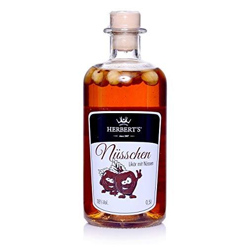 Original Herbert´s Likör - Nüsschen - Kakaonusslikör (1 Flasche 0,5L, 18% Vol.)