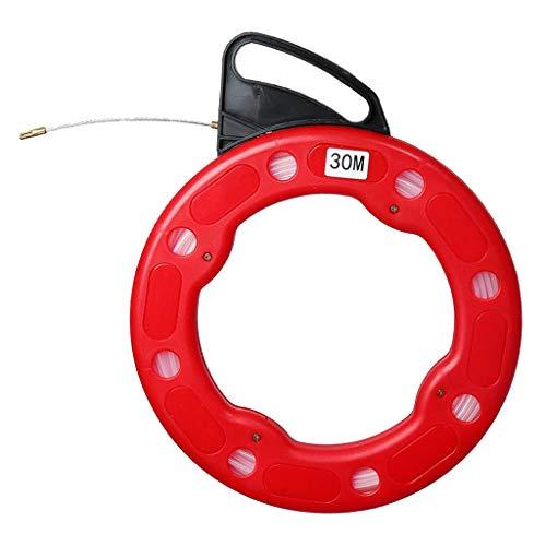 Shiwaki Glasfaser Kabel-Einziehhilfe Einziehdraht Kabel Einzugsband Einziehhilfen mit Führungsfeder