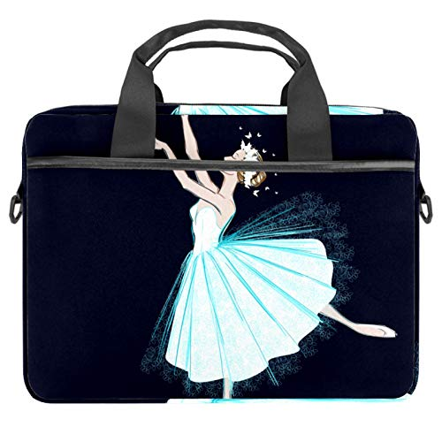 13-14.5 Inch Laptop Sleeve Case Ballet Dancer Girl Protective Cover Bag Portable Computer Notebook Carrying Case Briefcase Message Bag