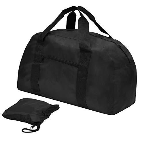 achilles®, Travelbag, AD111bl, Sac de Voyage Pliable/Sac de Sport, Noir, 60 cm x 29 cm x 33 cm