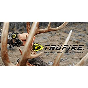TruFire Chicken Wing Adjustable Archery Compound Bow Release with Interchangeable Trigger - Black Wrist Strap
