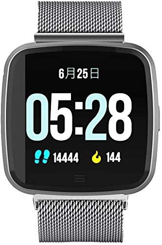 JSL Sueño impermeable monitoreo reloj inteligente Bluetooth frecuencia cardíaca presión arterial oxígeno en sangre pulsera deportes fitness pantalla color paso de reloj 3