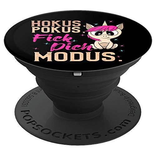 Lustig Hokus Pokus Fick Dich Modus - Böses Einhorn - PopSockets Ausziehbarer Sockel und Griff für...