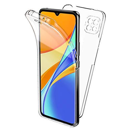 Oududianzi Hülle für Xiaomi Redmi 9C, 360 Grad Schutz Entworfen, Transparent Ultra Dünn TPU Silikon Hülle Vorne & PC Zurück Hülle Ursprüngliche Schönheit Doppelte Schutzabdeckung-Transparent