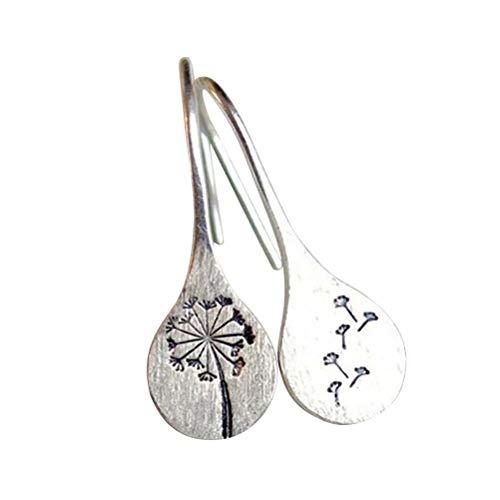 Bonbela Handmade Earrings 1 Pair Earrings Vintage Dandelion Earrings for Women Statement Earrings Pendientes Jewelry