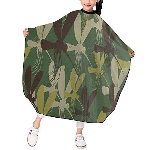 HHJJI Delantal de corte de pelo de mosquitos de camuflaje para niños Corte de pelo personalizado Barber Cape Cover Impermeable para corte de pelo Styling Smock Cover Cloth