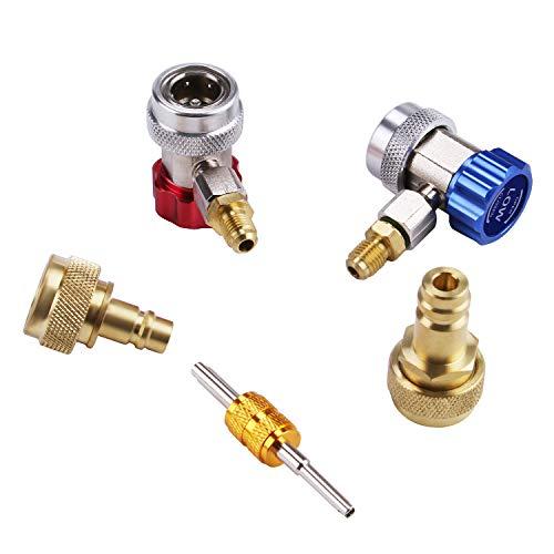 Lichamp Car A/C R1234YF R134A Adapters, AC R134 R1234 R 134A 1234YF Quick Couplers Connectors Kit