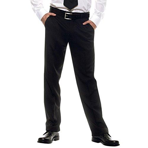 Amelia - Pantalone da Cameriere Una Pinces - Waiter Black Uniform Trousers Chef Work Pants (46)