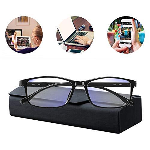mejores Gafas Protectoras para Ordenador Gafas Luz Azul,Gafas de Ordenador,Gafas con Filtro de luz Azul,Gafas de Pantalla,Antiluz Azul,Anti UV, Gafas para Ordenador Gaming PC para Hombre Mujer