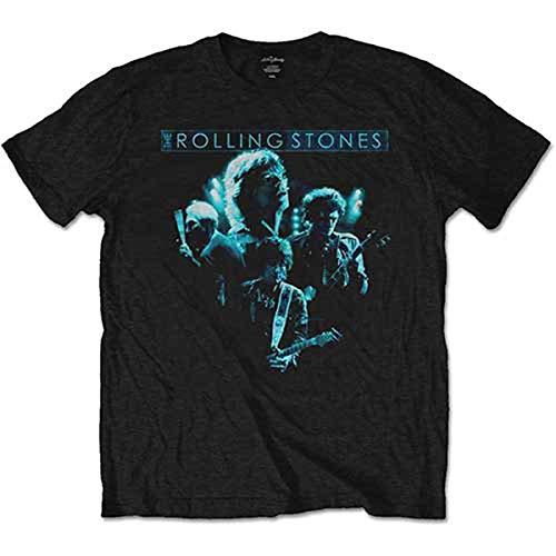 Rockoff Trade Band Glow T-Shirt, Noir, Moyen Homme