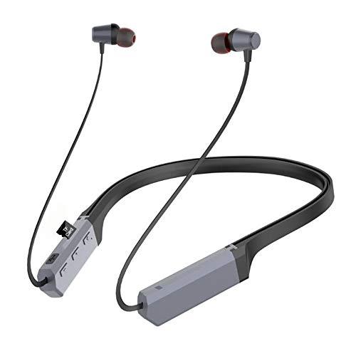 CAPOOK Nuevos Deportes de Tarjetas Que cuelgan del Cuello de Radio Bluetooth Auricular en la Oreja los Auriculares Bluetooth Auriculares (Color : Gray)