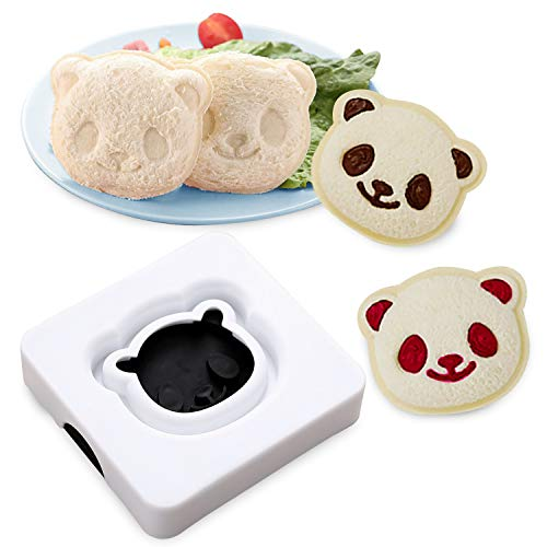 Sandwich Cutter, Sealer and Decruster for Kids- Panda Breakfast Sandwich Maker - Remove Bread Crust Mold - Cut and Seal - Sandwich Cutters for Boys and Girls Bento Accessories Lunch Box