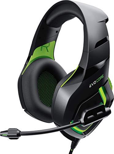 Phenom Pro Gaming-Headset mit Boom-Mikrofon, XL-Ohrpolster, LED-Leuchten, 50 mm, kompatibel mit Xbox