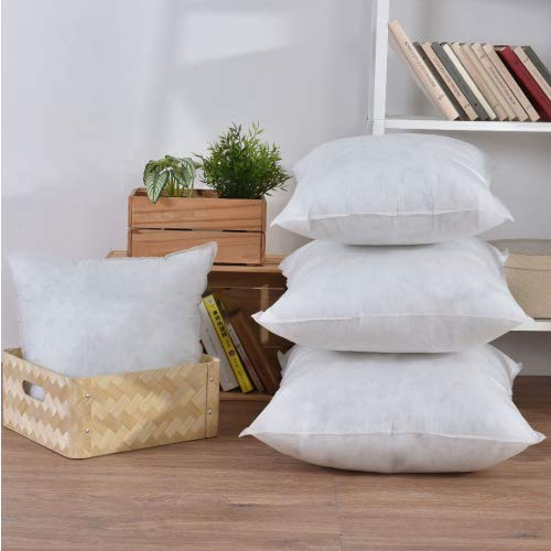 EGYPTO Pack of 4 Cushion Pad Stuffer Pillow Insert Square Polyester – MADE IN UK (Pack of 4 | 18' x 18')