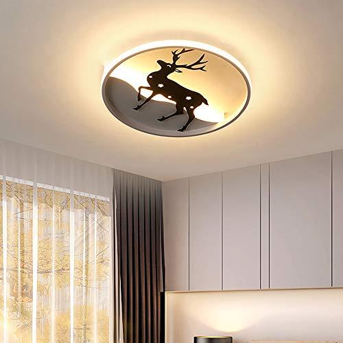 Luces de techo Redondas LED Regulables Lámpara de techo Habitación de niños Lámpara de sala Lámpara de dormitorio Iluminación de techo, Estudio Balcón Cocina Romántico Lámpara de mesa de comedor,Ø45cm