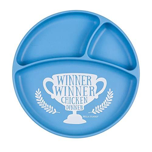 Bella Tunno Winner Winner Chicken Dinner Wonder Plate, Blue