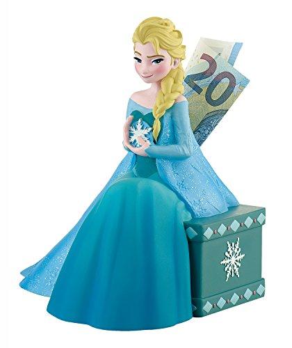 Bullyland 13070 - Spardose, Disney Die Eiskönigin - Frozen, Prinzessin Elsa, ca. 16 x 15 cm, tolle Sparbüchse für Kinder, verschließbare Figur, ideal als Geschenk und Dekoration