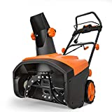 TACKLIFE Electric Snow Blower, 20-Inch Clearing Width and 10-Inch Clearing Depth, 15Amp Snow Thrower, Ideal for Quick Snow Pickups on driveways and patios