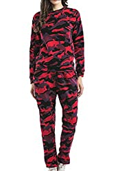 Belie Women Army Camouflage Print 2 Piece Tracksuit Lounge Suit Tracksuit