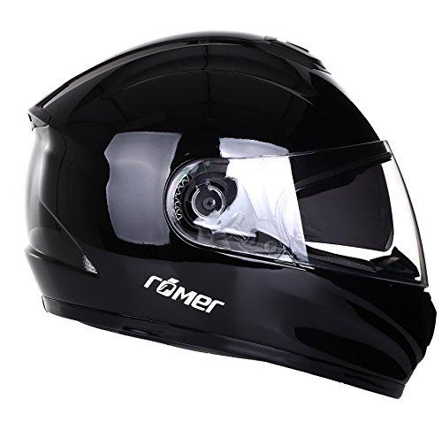 Römer Helmets Motorradhelm Bonn, Schwarz/Glänzend, Größe L