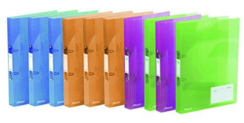 Rexel Ice - Raccoglitore ad anelli formato A4, colori assortiti, 10 pz Confezione da 10 Colori assortiti