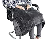 MAXTID Weighted Lap Blanket Travel Size Heavy Lap Pad 39in x 23in 8...