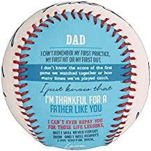 Make-A-Ball Custom Father's Day Quote Baseball Gift Personalized to Dad from Daughter