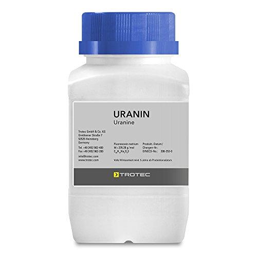 TROTEC Uranin 100 g Fluorescein I Markierungsfarbstoff I Leckortung I Leckageortung I Dichtheitsprüfung I Wasserfärbemittel I Färbemittel I Pulver