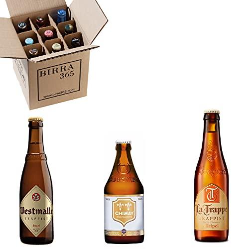 Caja degustación 9 cervezas trapenses estilo Tripel. Cervezas especiales para cerveceros que buscan la máxima calidad.