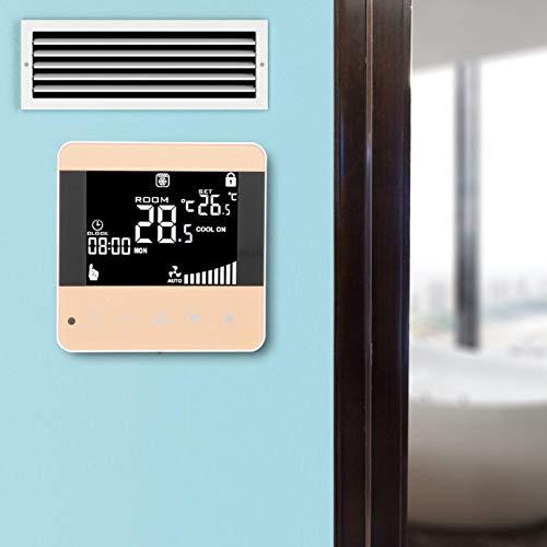 Termostato con quattro modalità di velocità del vento intelligente, per registratore di ventilazione centrale dell impianto climatizzatore (Ordinary Paragraph, rosa)