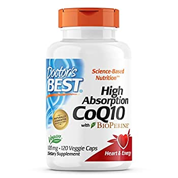 Doctor s Best High Absorption CoQ10 with Bioperine Heart Health & Energy Production Non-GMO Gluten & Soy Free Vegan 100 Mg 120 count