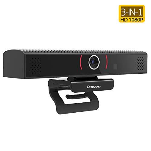 Tenveo Stream Webcam Full HD 1080p Cámara para videoconferencia, grabación y transmisión (TEVO-VA1000)