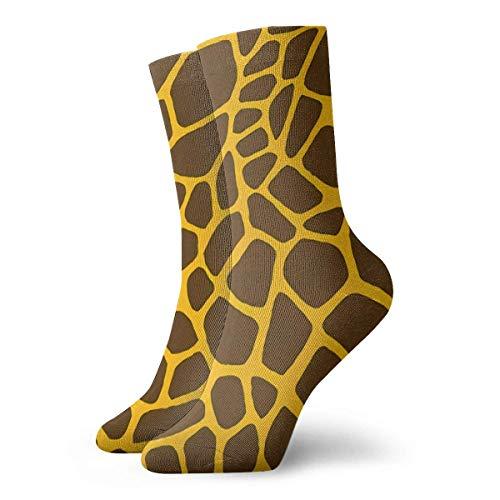 QUEMIN Calcetín, patrón de jirafa animal, 30 cm, calcetines largos, medias deportivas de algodón para hombres, mujeres, niños, niñas