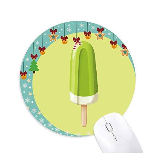 Grüne Mung-Bohnen Eis Sweet Ice Cream Mouse Pad Jingling Bell Round Rubber Mat