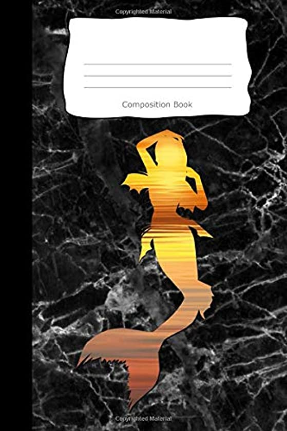 Composition Book: Mermaid Sunset Cover | Notebooks | Wide Ruled Line Paper | 120 Pages | Soft Cover