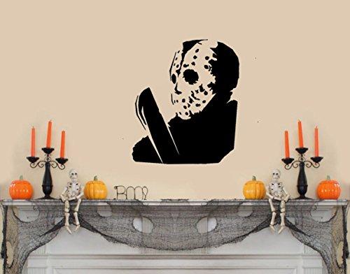 Jason Voorhees Friday The 13th with Macehete Halloween-Wandaufkleber