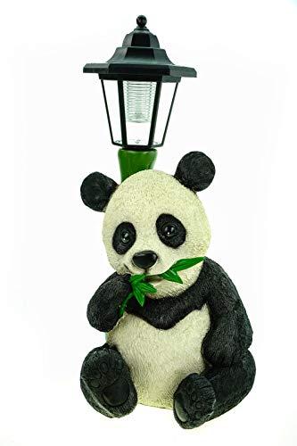 Udo Schmidt GmbH & Co. KG Pandabär mit LED Solarlaterne 40 cm Figur Skulptur Tier Panda Bär Solar Laterne