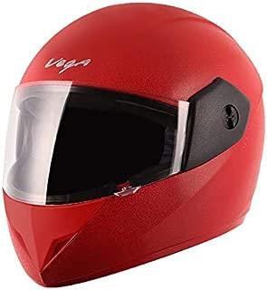 Vega Cliff CLF-LR-M Full Face Helmet (Red, M (58 cm))