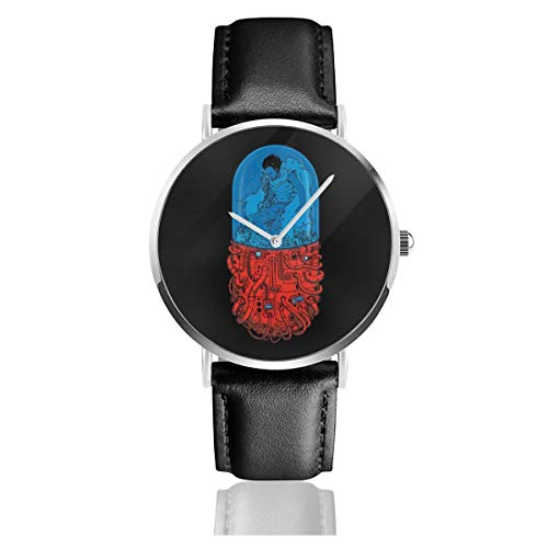 Akira Capsule - Reloj de Pulsera Unisex (Cuarzo, Correa de Piel Negra, 41 Relojes)