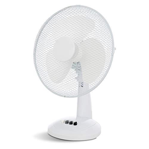 XFORT Desk Fan 3 Speed Silent & Compact Cooling Fan, 12 Inch Oscillating...