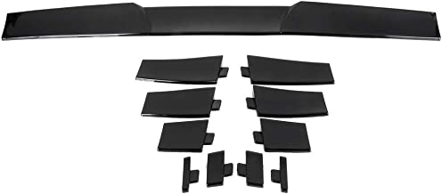 OCPTY Universal Spoiler Wing Compatible with Chrysler Chevy Ford Lincoln Mazda Mercury Toyota Volkswagen Series ABS Rear Spoiler with Self-Adhesive Tape