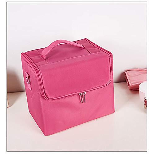 NFGHH Trousse Maquillage Femmes Grand Espace de Rangement Make Up Organiseur avec Cloisons Amovibles Pochettes Cosmétique de Toilette de Voyage Pouch Sac Cosmétique de Voyage,Pink