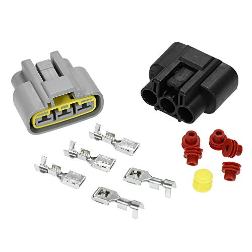 KKmoon Kit de Conector regulador de Voltaje, 1 Set de regulador rectificador, Conector eléctrico Honda TRX Yamaha YZF Sea-Doo Can-Am Kawasaki Polaris
