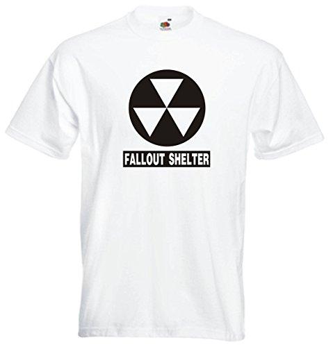 T-Shirt Herren Weiss - Fallout Shelter - L