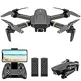 4DRC Drone Plegable con Cámara 1080P HD, Dron WiFi FPV por Control Remoto, Altitud Hold, Un botón de despegue / Aterrizaje, Quadcopter Helicóptero con Headless Modo, 3D Flip, Modo Órbita, 2baterías